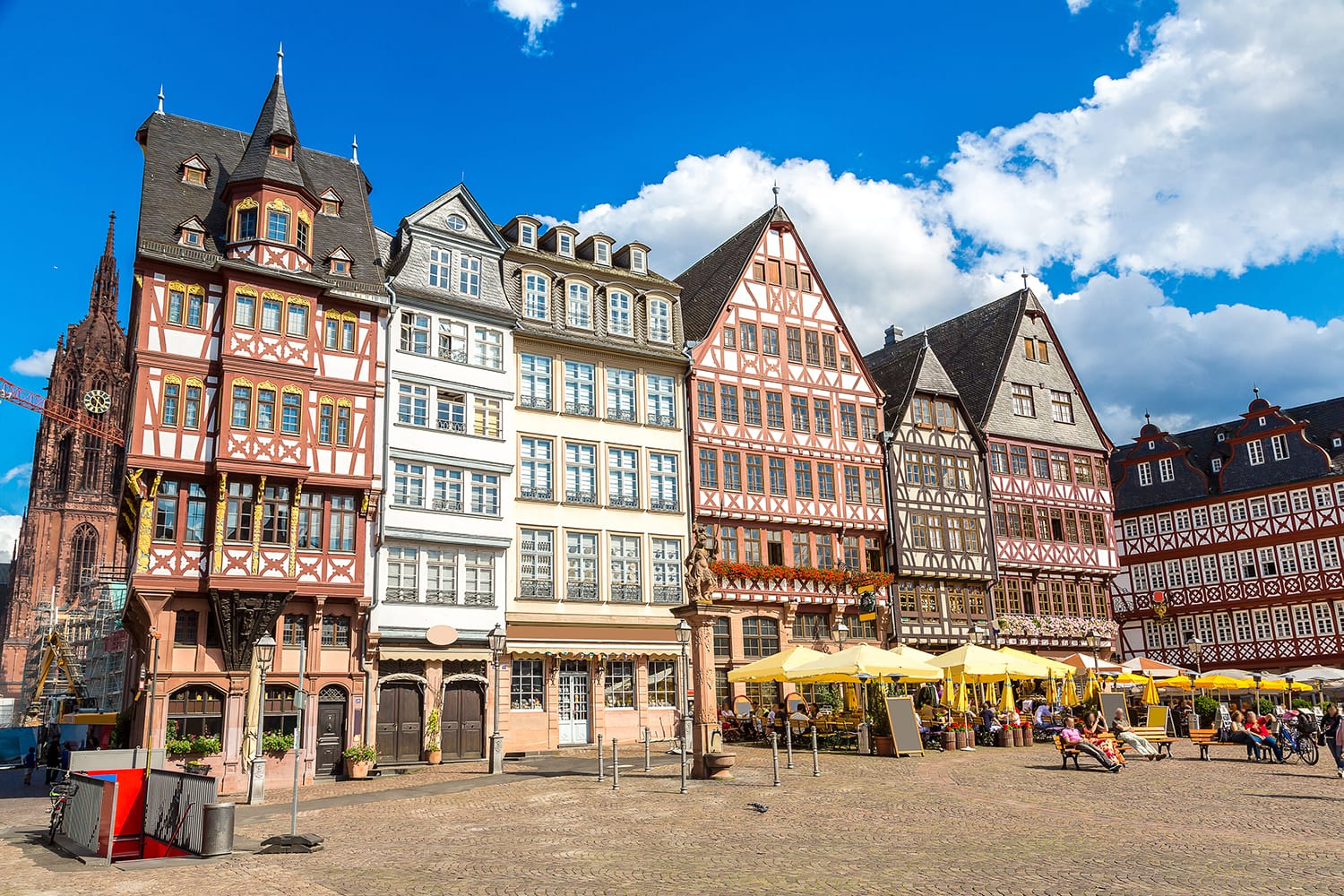 Old town in Frankfurt, Germany