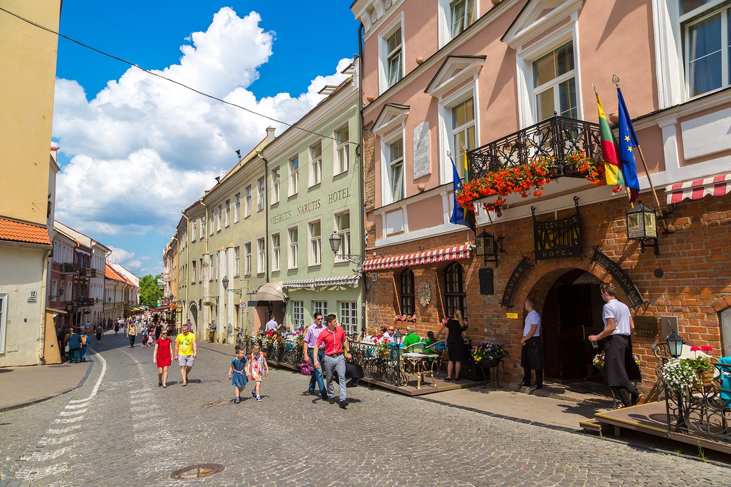 Vilnius old town in a beautiful summer day, Lithuania