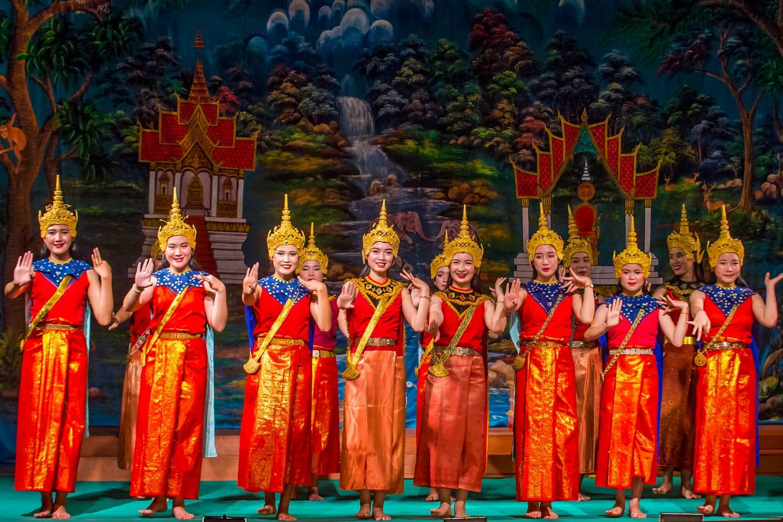 Laotian dancers perform in the Royal Ballet Theatre in Luang Prabang, Laos