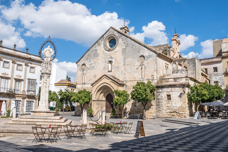 "Historical square ""Plaza de la Asuncion"" in Jerez de la Frontera, Cadiz, Spain"