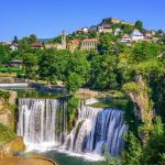 Jajce town in Bosnia and Herzegovina, famous for the beautiful Pliva waterfall