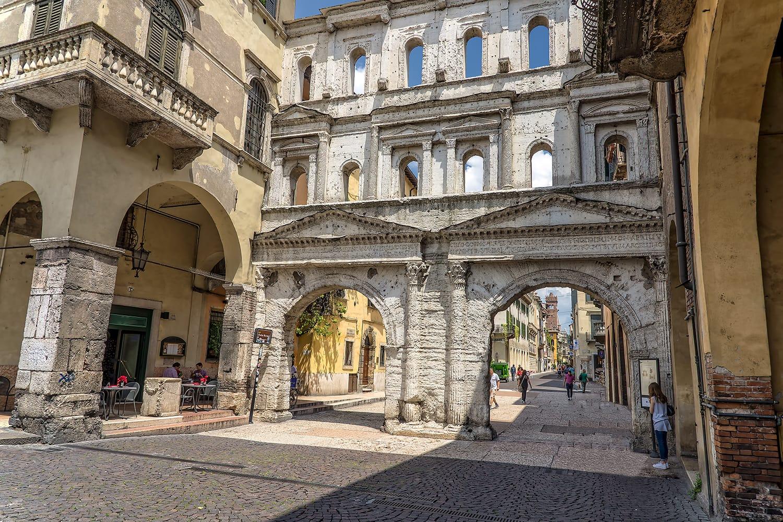 Porta Borsari in Verona, Italy