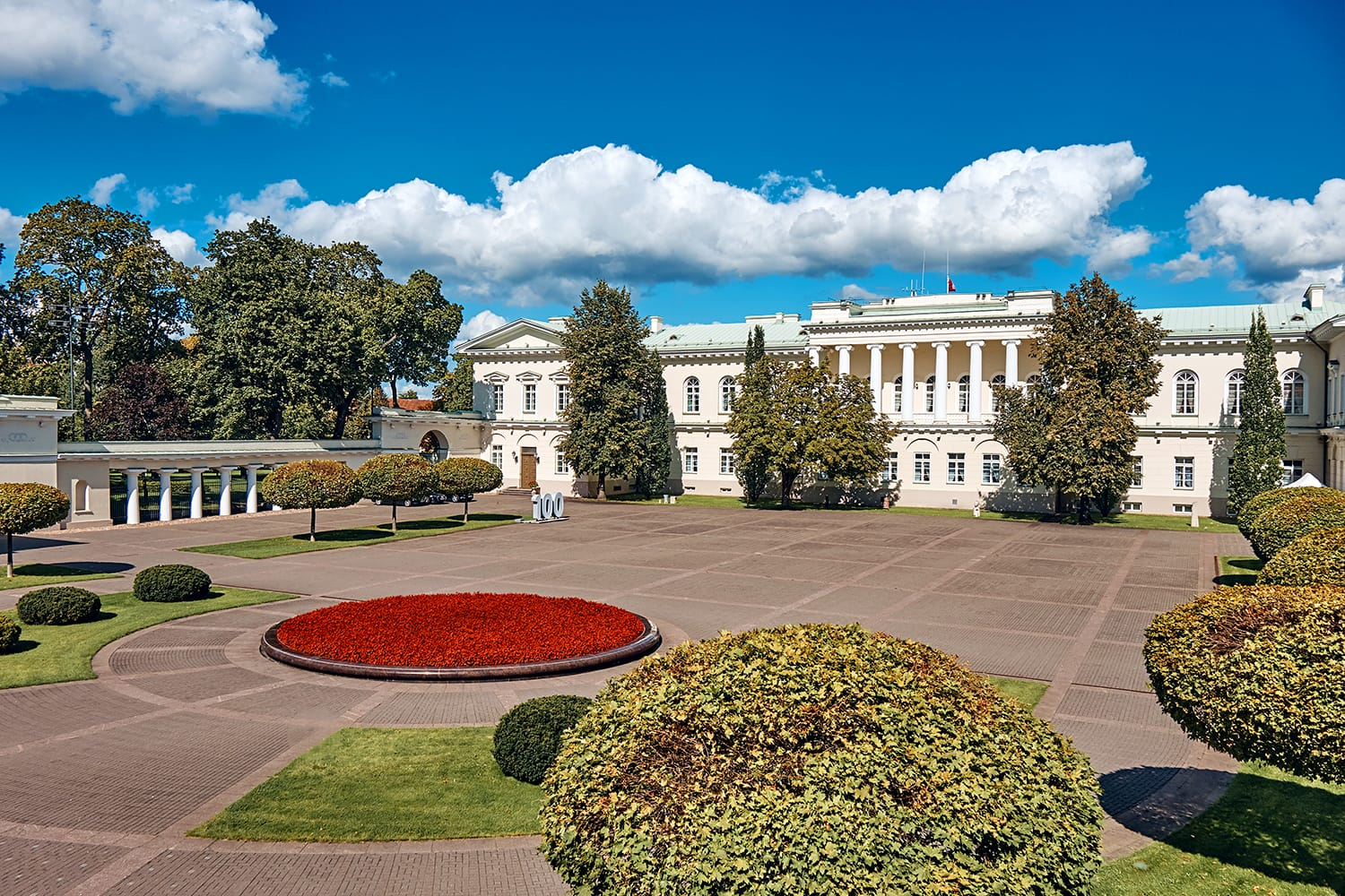 The Exterior of Presidential Palace in Vilnius, Lithuania