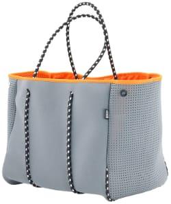 QOGiR Neoprene Beach Bag with Zipper Pocket