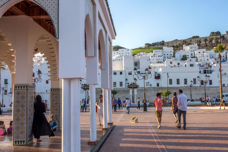 Riad Lfedda Square in Tetouan, Morocco