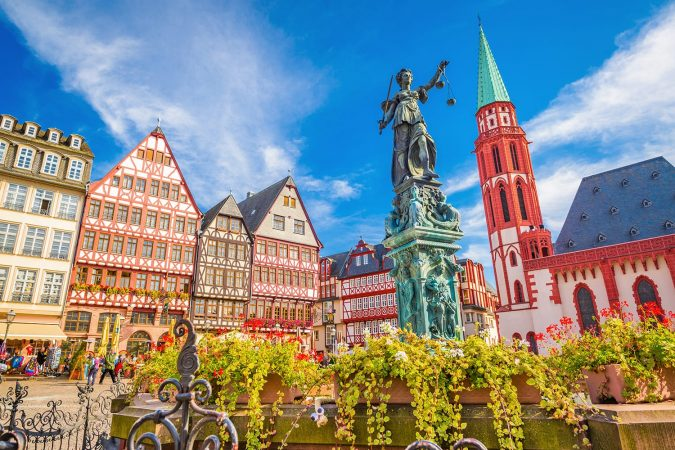 Romerberg in Frankfurt, Germany