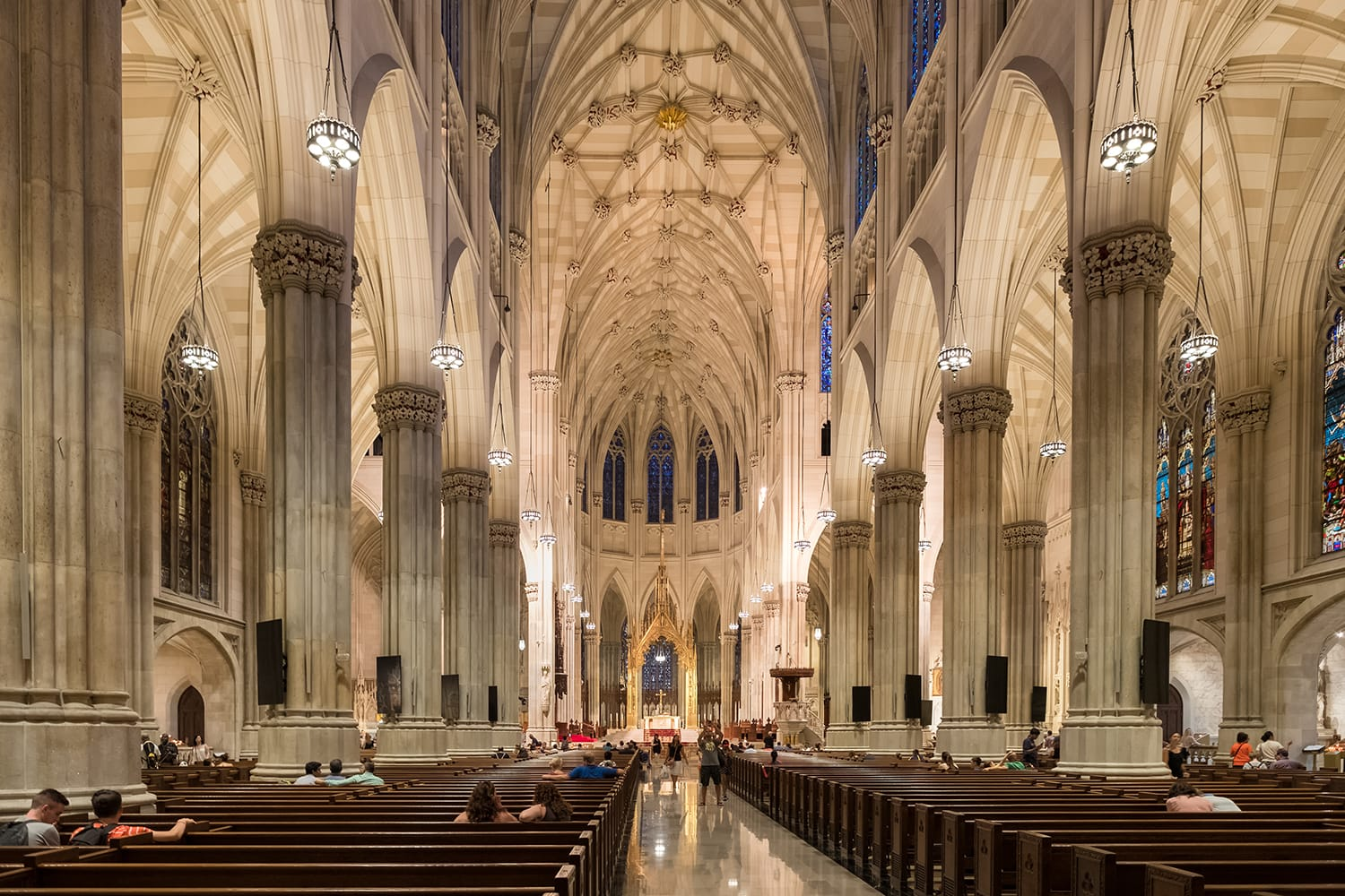 Interior of Saint Patrick's Cathedral in New York City, USA