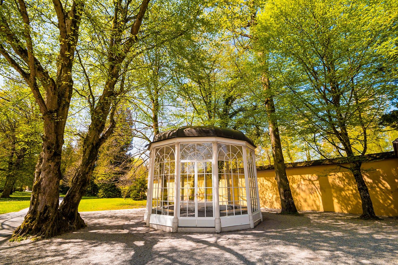 """The """"Sound of music"""" pavillion in Hellbrunn park in Salzburg, Austria"""