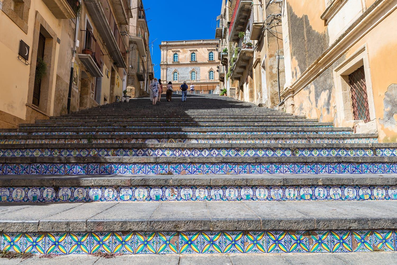 Staircase of Santa Maria del Monte. Caltagirone, Sicily, Italy.