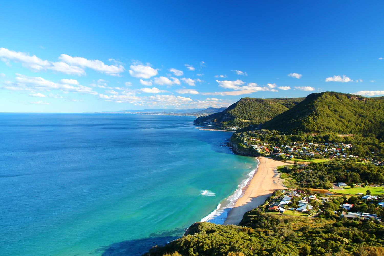 Illawarra coastline in Australia.