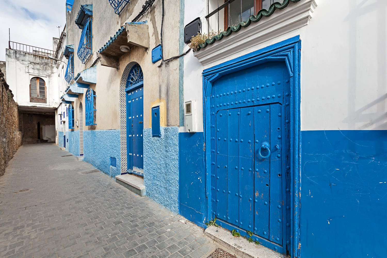 Streets of old Medina. Historical central part of Tanger city, Morocco
