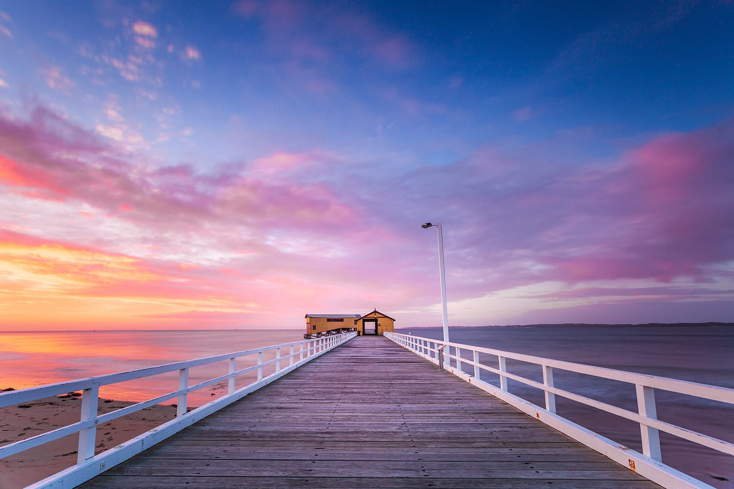 Beautiful Sunrise At Queenscliff Pier, Victoria, Australia.
