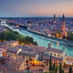 Sunset over Verona, Italy