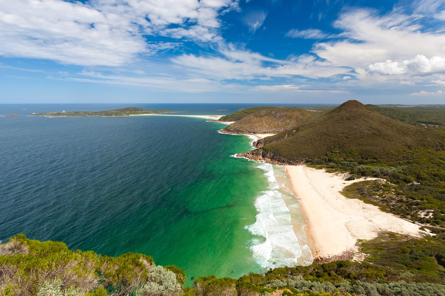 View from Tomaree Head Lookout, New South Wales Australia