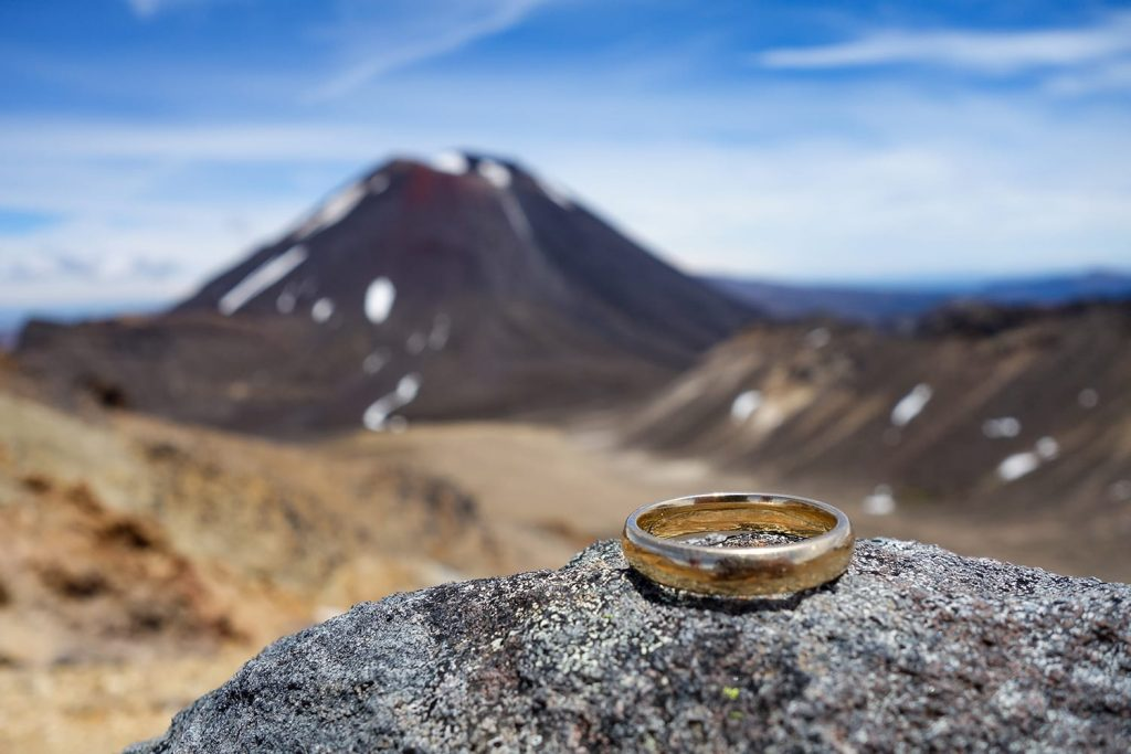 Ring from Lord of the Rings in Tongariro National Park, New Zealand