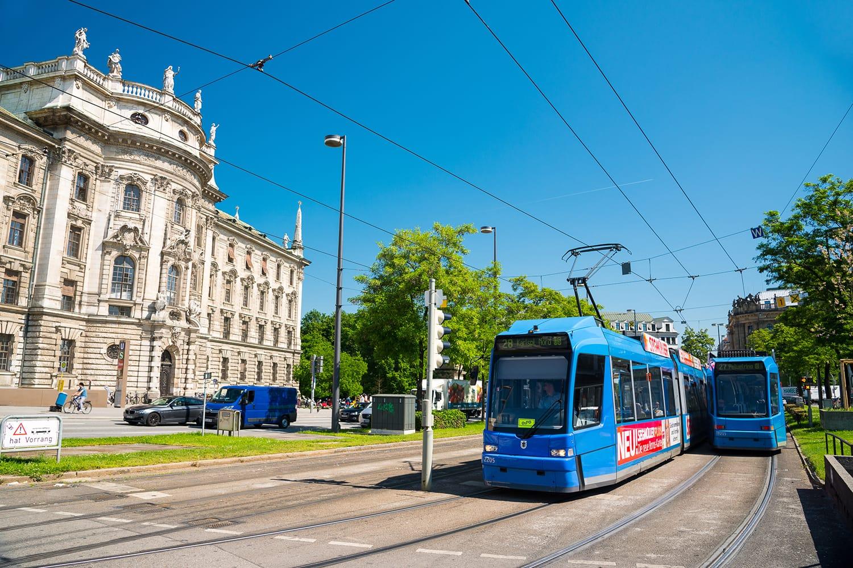 Tram in Munich, Germany