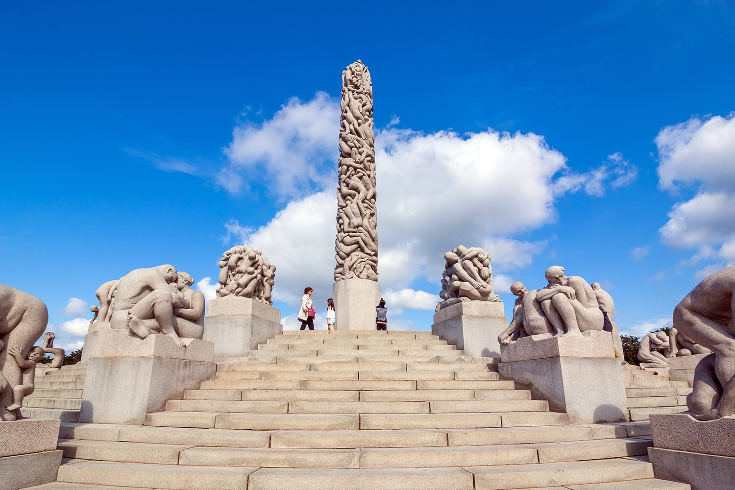 Famous Vigeland park in Oslo, Norway