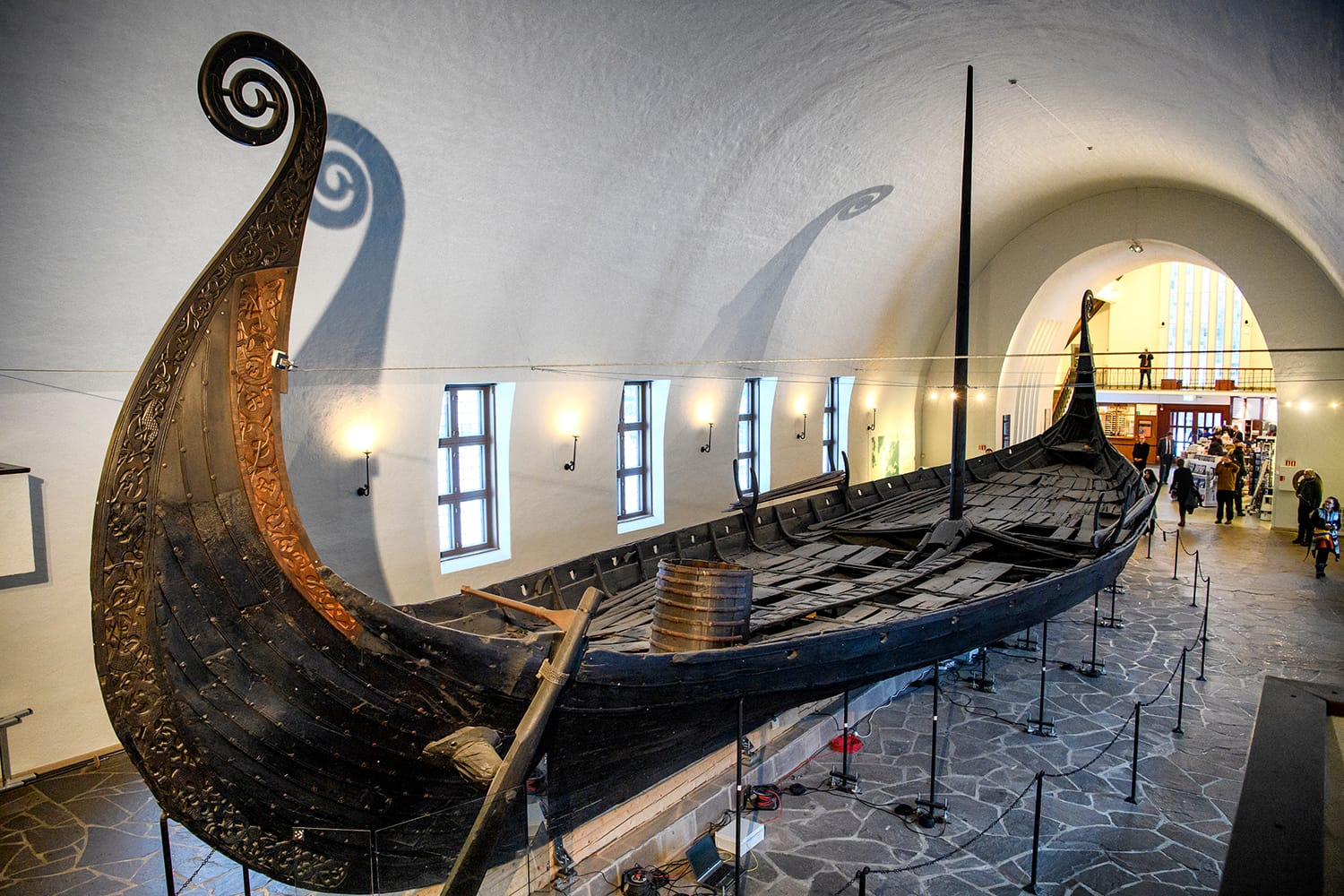 Viking ship (drakkar) in vikings museum in Oslo, Norway