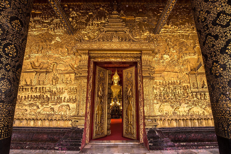 Wat Mai Suwannaphumaham,Ancient Temple in Luang Prabang, Laos.