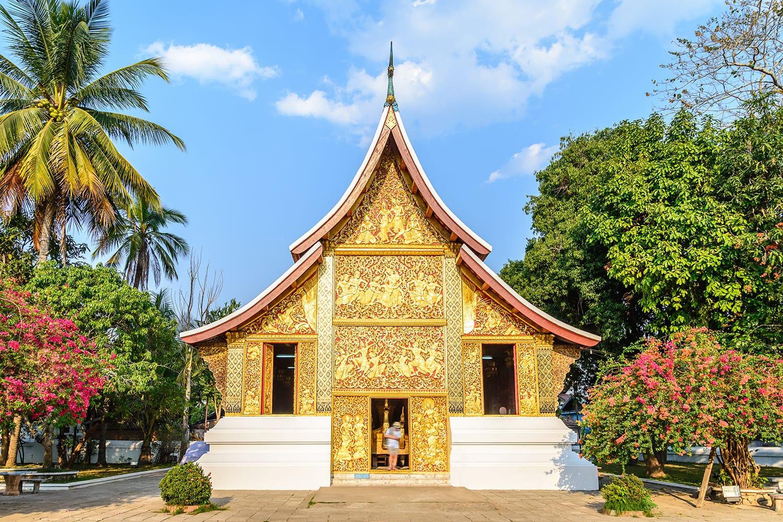 Wat Xieng Thong Ratsavoravihanh or Temple of the Golden City at Luang Prabang, Laos.