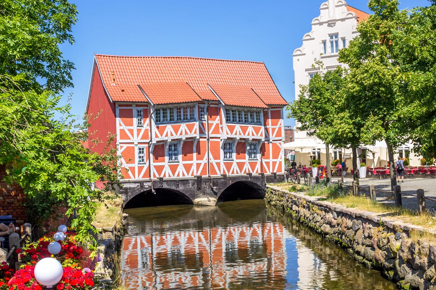 Historical city of Wismar, Germany