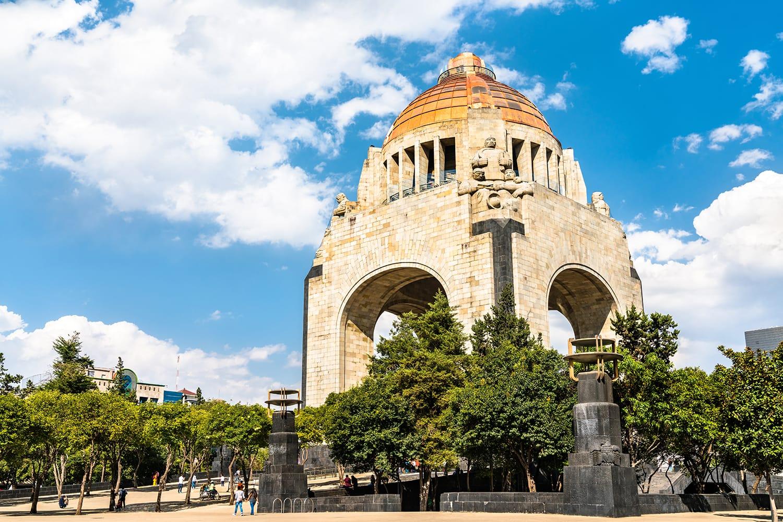 The Monument to the Revolution in Republic Square, Mexico City