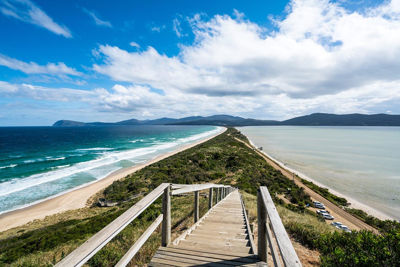 The Neck lookout on Bruny Island, Tasmania, Australia