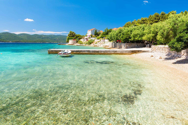 Crystal clear water in Peljesac Peninsula, Dalmatia, Croatia
