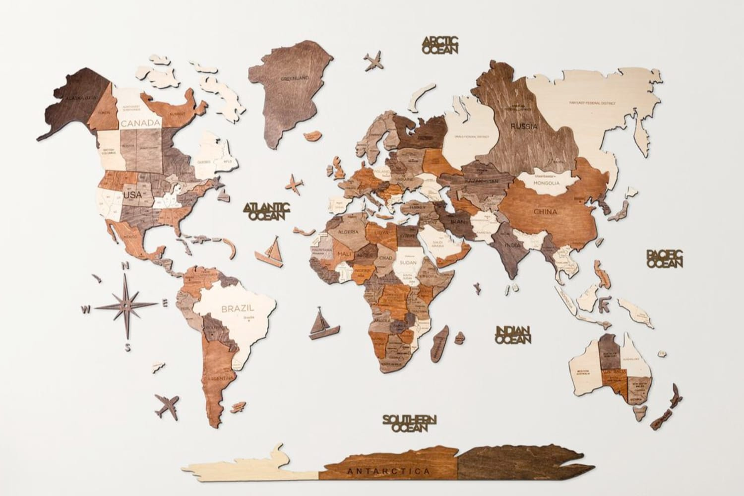 Enjoy The Wood World Map
