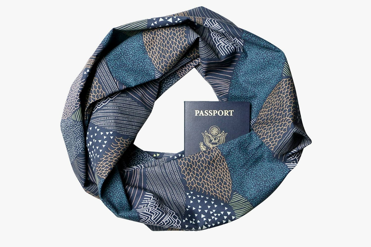 Travel Scarf with a Hidden Pocket