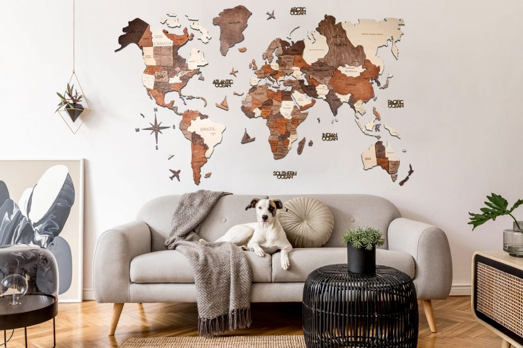 Enjoy the Wood World Map, the perfect travel gift idea