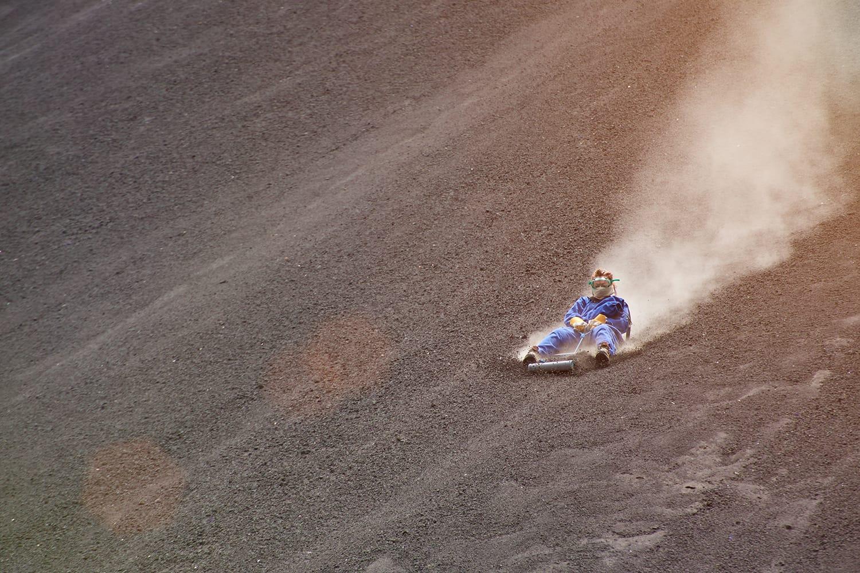 Volcano boarding activity in Nicaragua