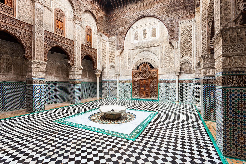 The Al-Attarine Madrasa is a madrasa in Fez medina in Morocco
