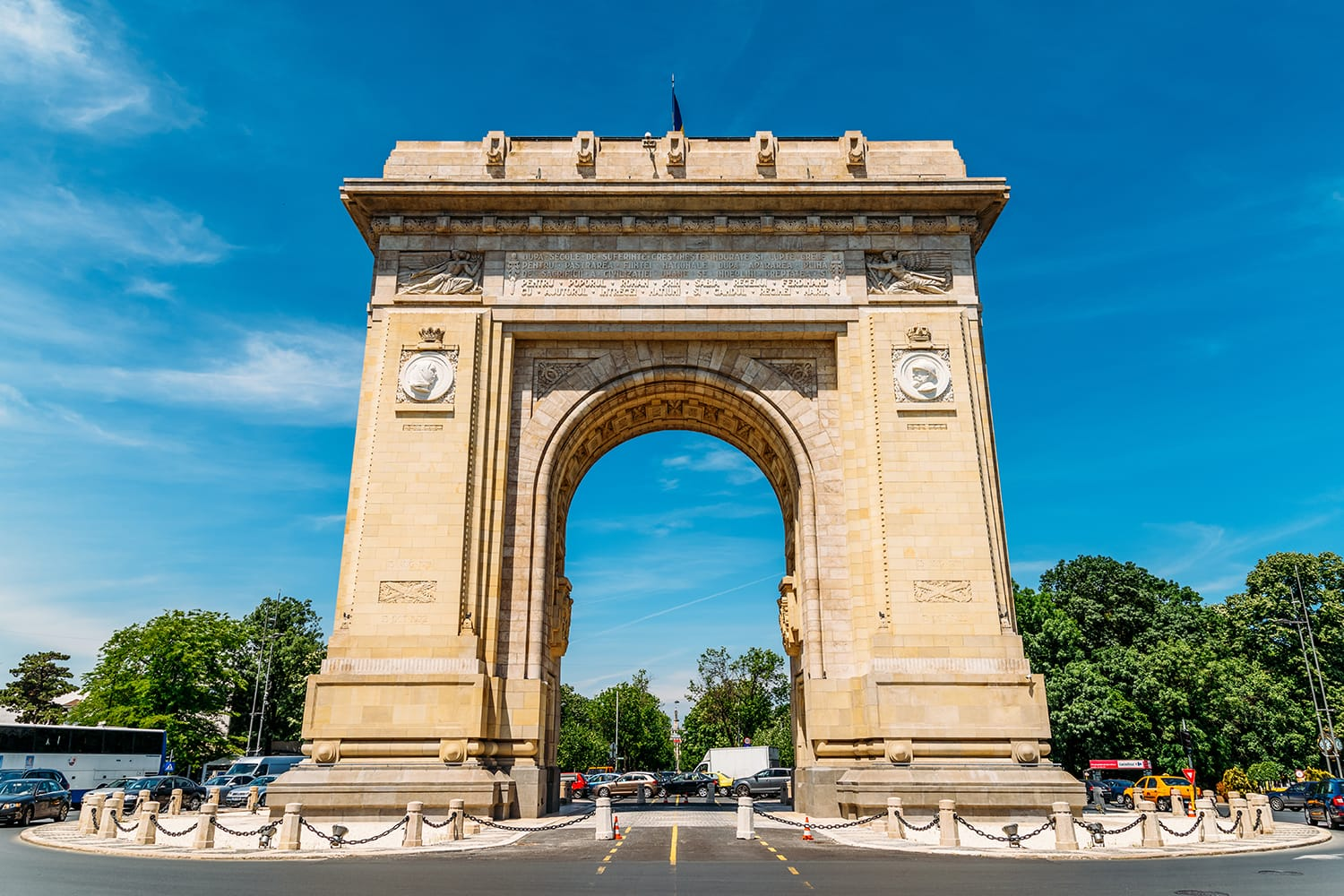 Built in 1936 Arcul de Triumf is a triumphal arch located in the northern part of Bucharest on Kiseleff Road.