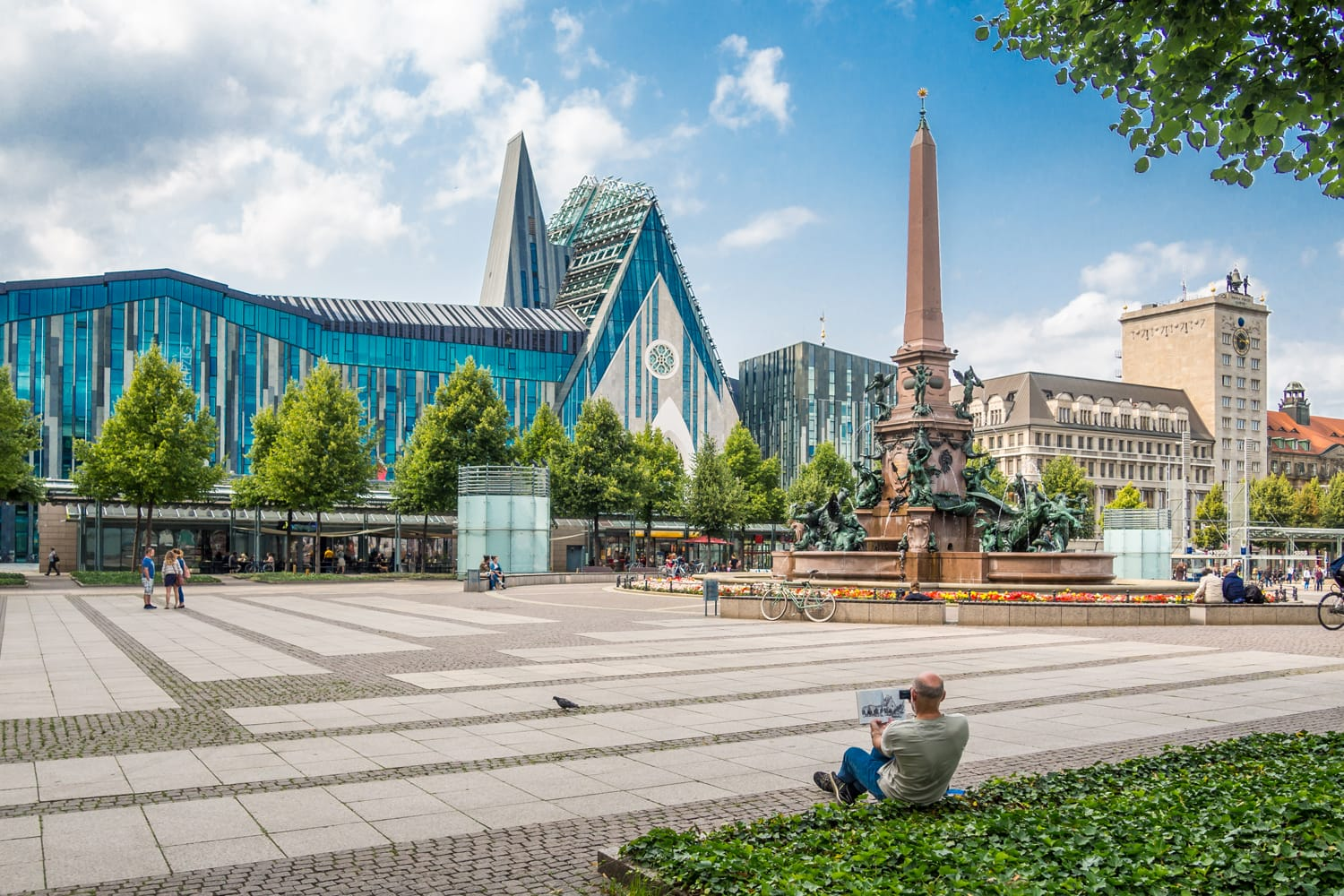 Augustusplatz in Leipzig, Germany