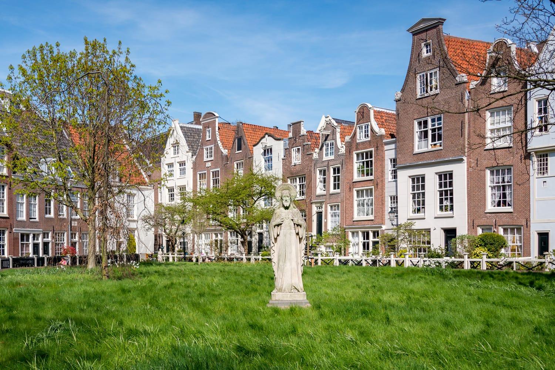 Grounds of the Begijnhof Ursuline convent in Amsterdam, Netherlands