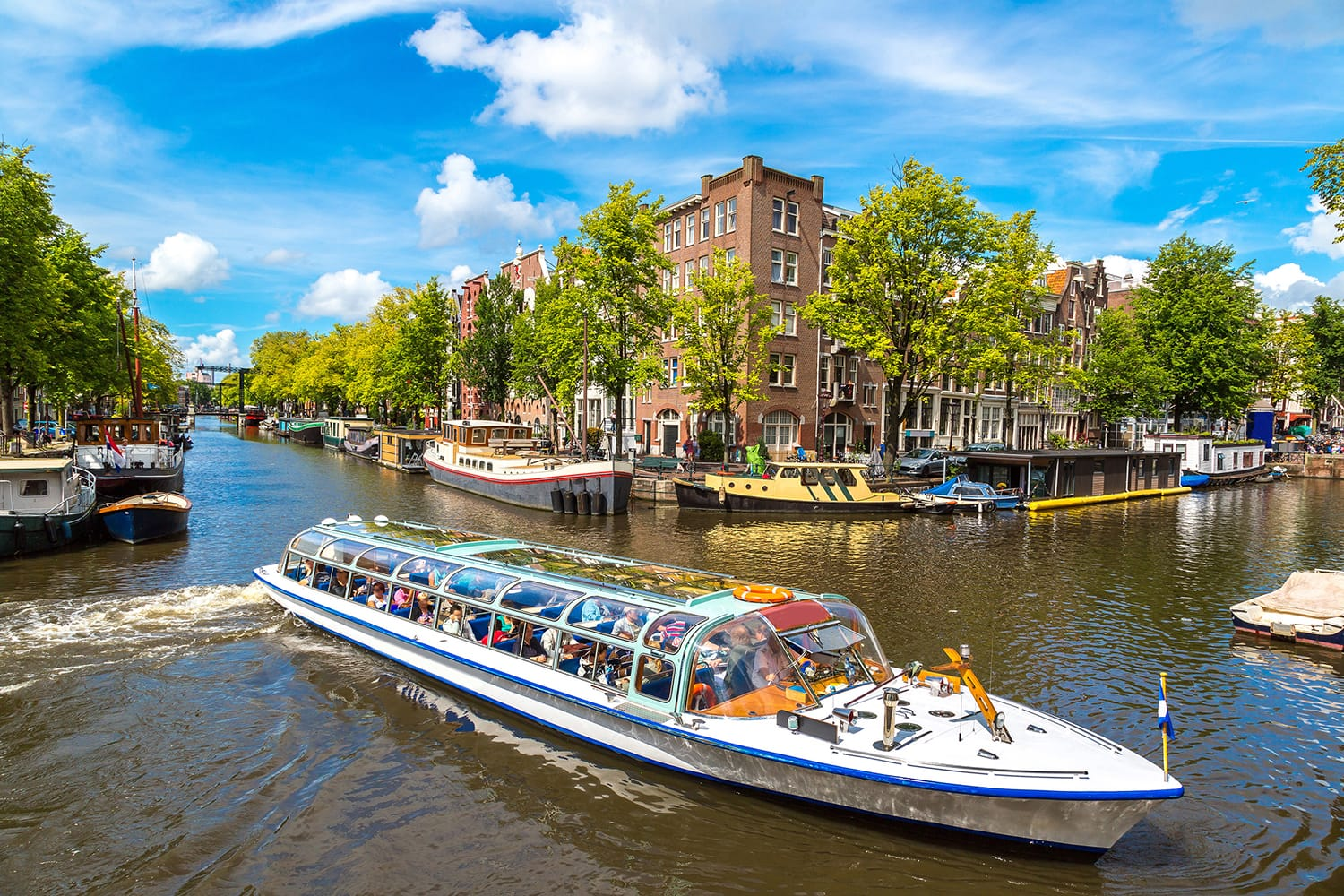 Boat cruise in Amsterdam, Netherlands