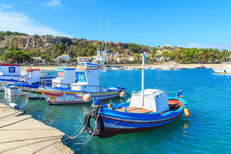 Boats in a port in San Vito Lo Capo, Sicily, Italy
