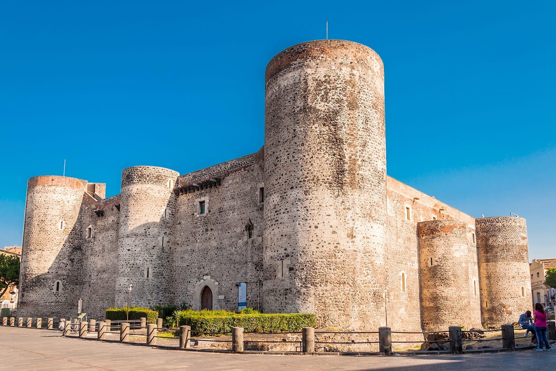 Panorama of the Castello Ursino, also known as Castello Svevo di Catania, is a castle in Catania, Sicily, southern Italy.