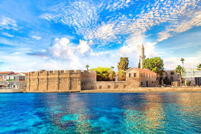 Beautiful view of the castle of Larnaca, on the island of Cyprus