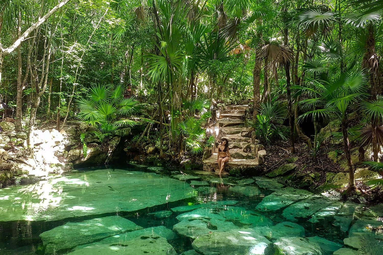 Cenote Azul in the Riviera Maya, Yucatan Peninsula