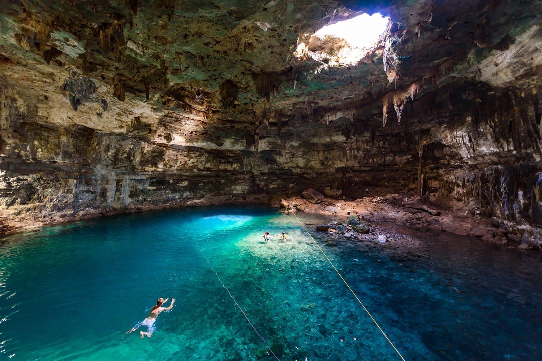 Cenote Samula Dzitnup near Valladolid, Yucatan, Mexico