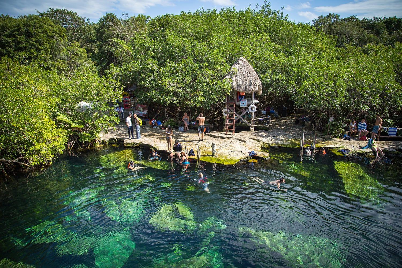 Cenote Cristalino near Tulum, Mexico