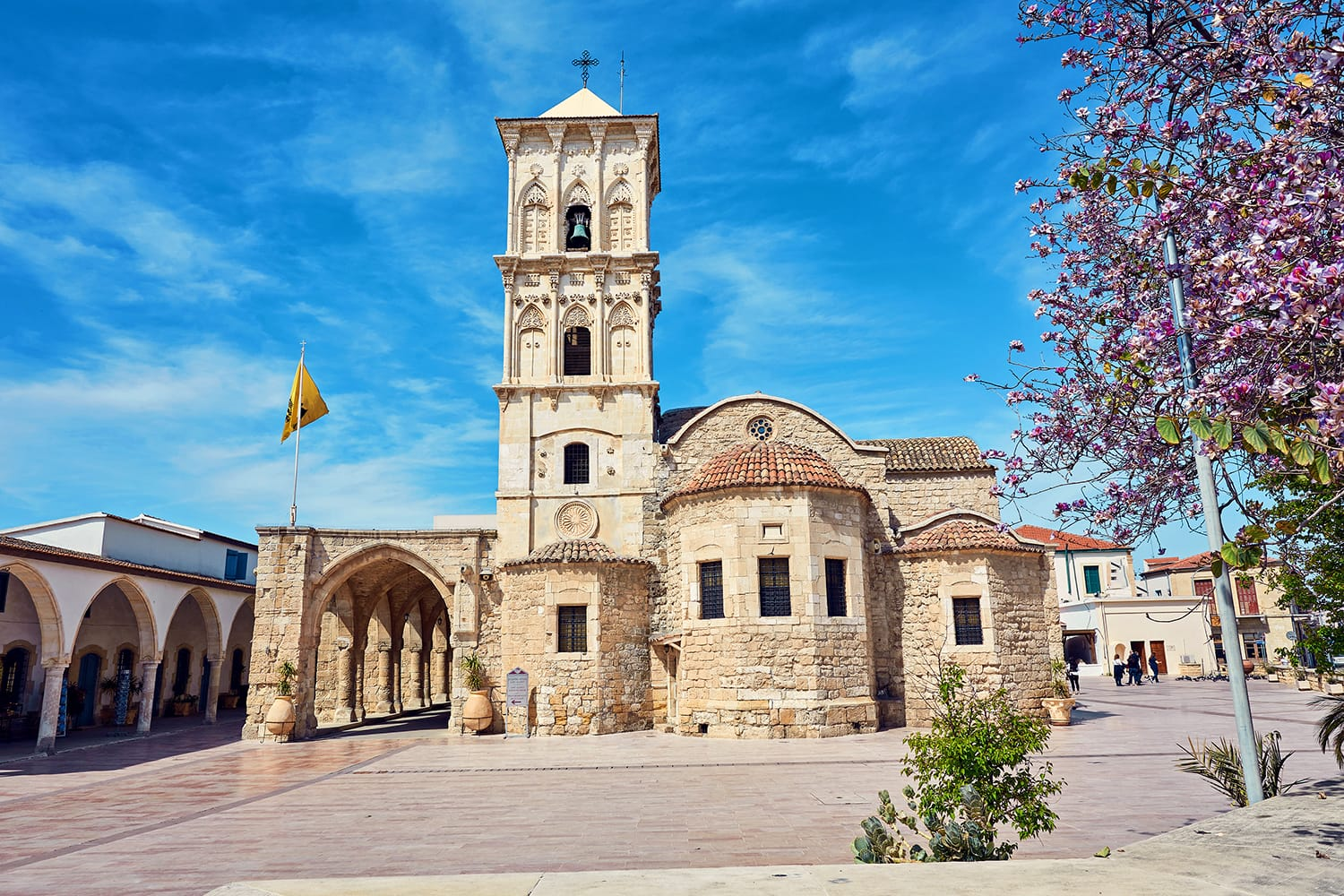 The front of the Church of Saint Lazarus, a late-9th century church in Larnaca, Cyprus