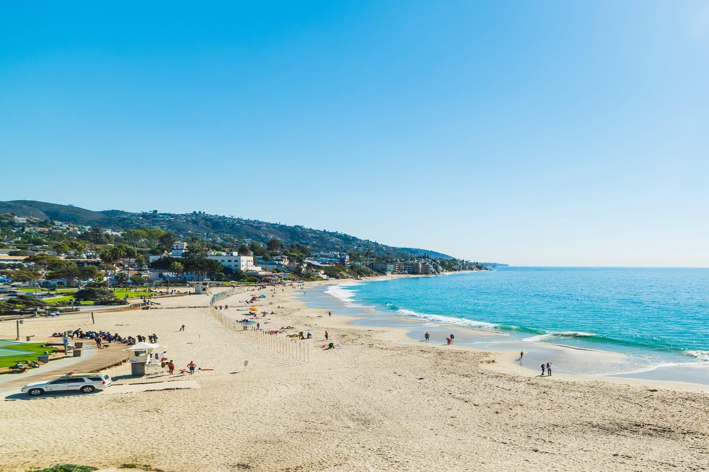 Clear sky over Laguna beach, California, USA