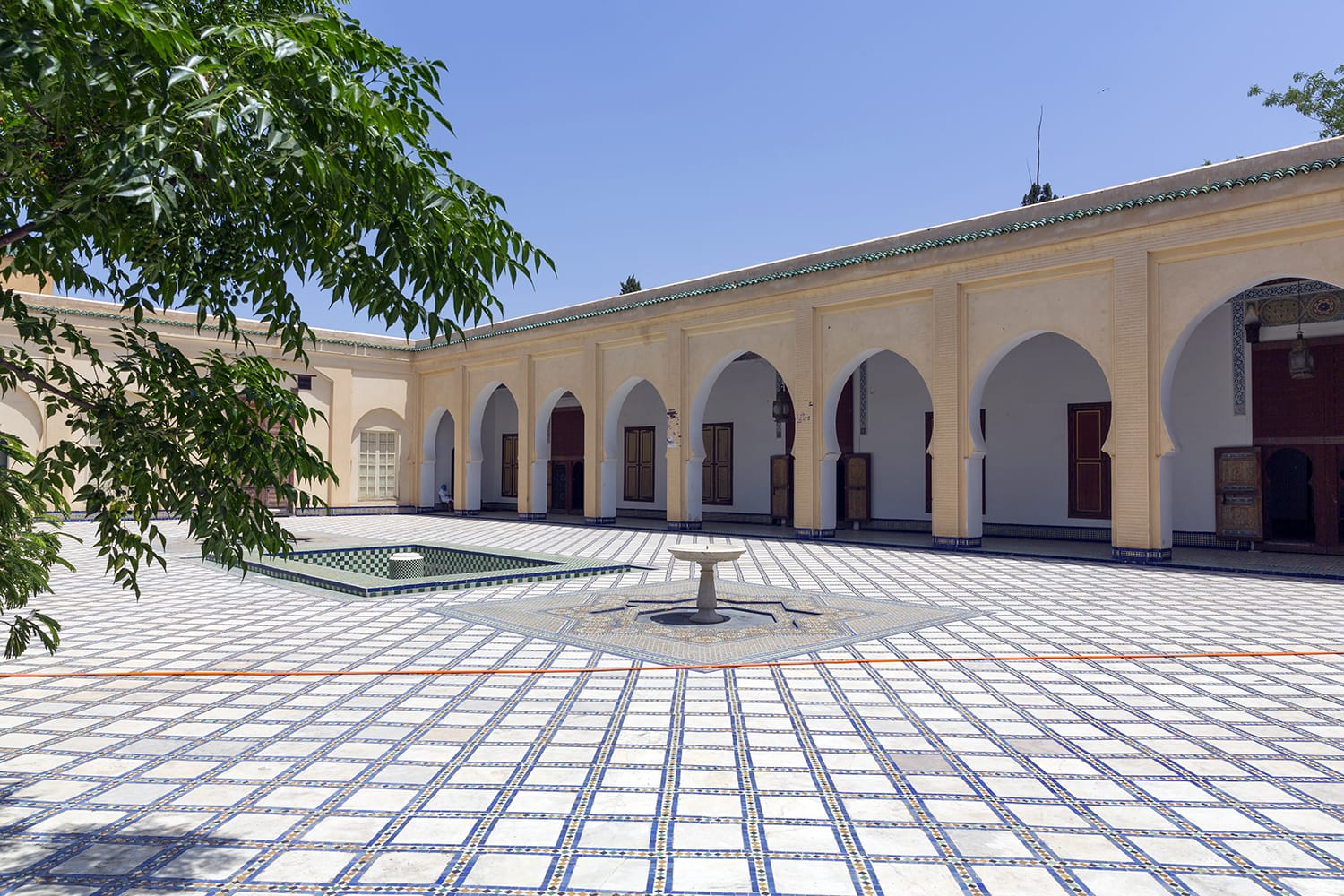 The courtyard of the Dar Batha Museum of Fes, Morocco