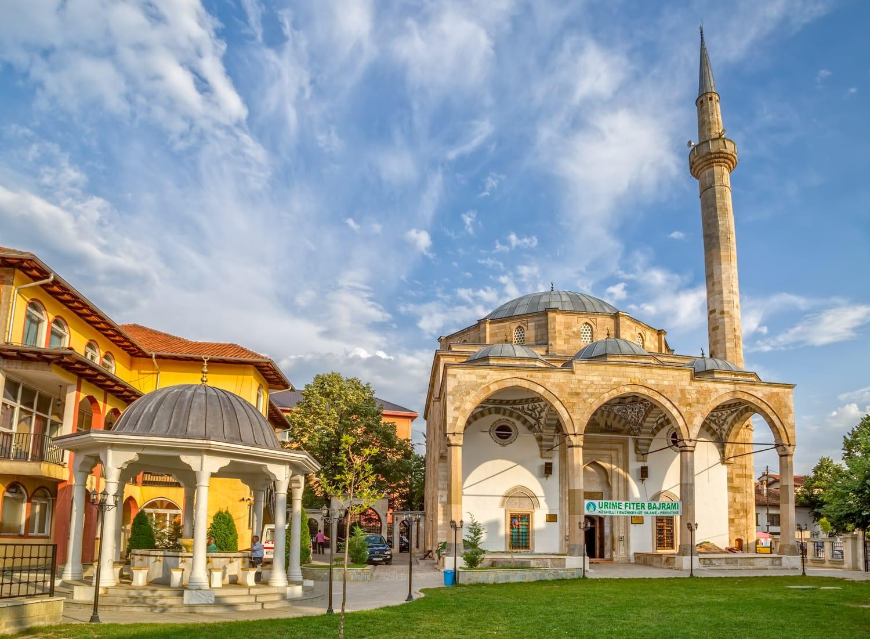 Fatih Mosque is the main city mosque in Pristina Kosovo