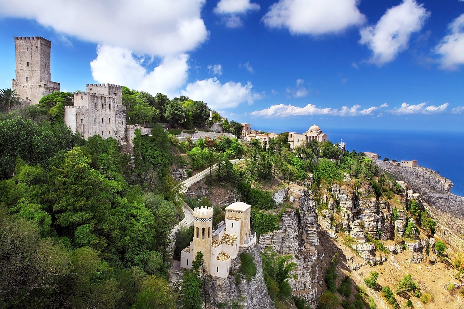 Mountain Fortress and Village of Erice on Sicily, Italy