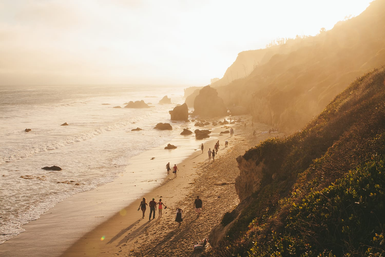 Golden hour in Malibu, California USA