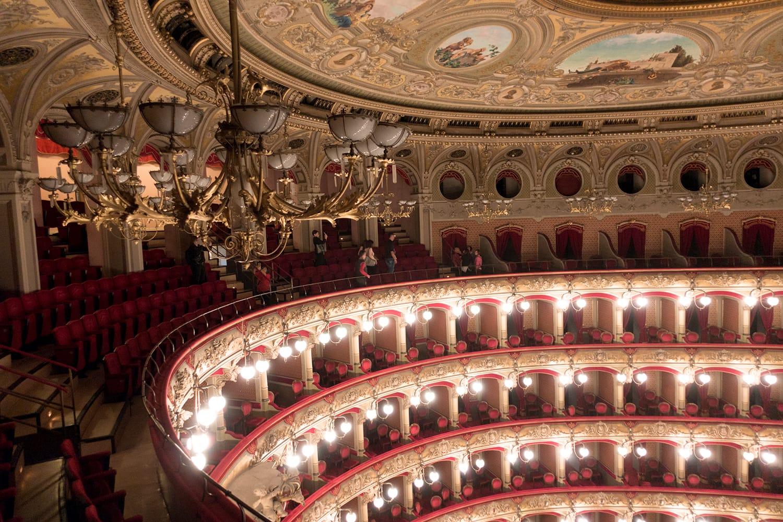 Vincenzo Bellini Theater in Catania, Sicily, Italy.